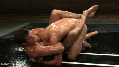 Photo number 10 from Rusty Stevens vs Tommy Defendi <br />The Oil Match shot for Naked Kombat on Kink.com. Featuring Rusty Stevens and Tommy Defendi in hardcore BDSM & Fetish porn.