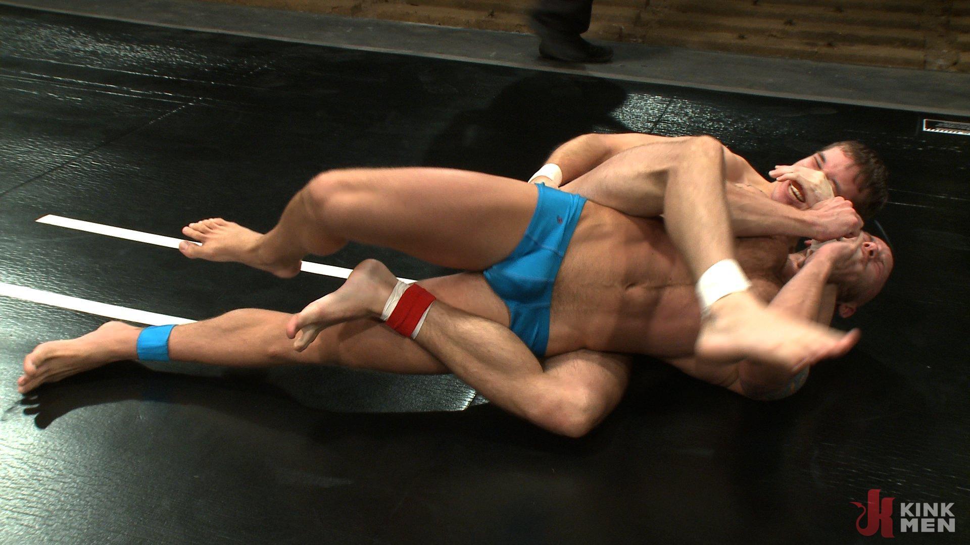Photo number 3 from Drake Jaden vs. Krist Cummings shot for Naked Kombat on Kink.com. Featuring Krist Cummings  and Drake Jaden in hardcore BDSM & Fetish porn.
