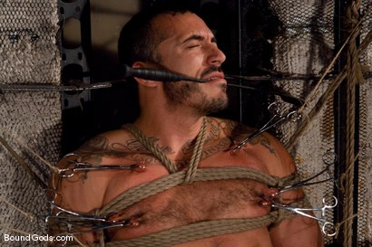 Photo number 1 from Race and Alessio shot for Bound Gods on Kink.com. Featuring Alessio Romero and Race Cooper in hardcore BDSM & Fetish porn.