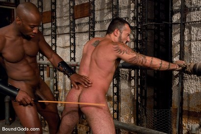 Photo number 8 from Race and Alessio shot for Bound Gods on Kink.com. Featuring Alessio Romero and Race Cooper in hardcore BDSM & Fetish porn.