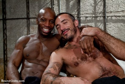 Photo number 15 from Race and Alessio shot for Bound Gods on Kink.com. Featuring Alessio Romero and Race Cooper in hardcore BDSM & Fetish porn.