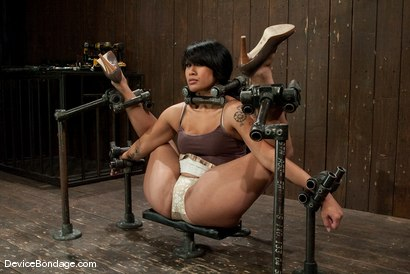 Photo number 1 from DragonLily<br>Hard foot caning, harder orgasms.  shot for Device Bondage on Kink.com. Featuring DragonLily in hardcore BDSM & Fetish porn.