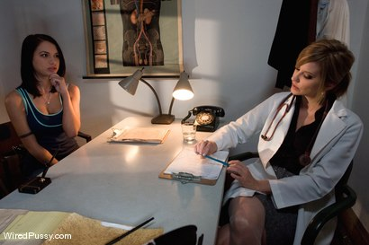 Photo number 2 from Medical Testing shot for Wired Pussy on Kink.com. Featuring Ashley Fires, Maitresse Madeline Marlowe  and Micah Moore in hardcore BDSM & Fetish porn.