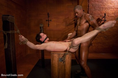 Photo number 14 from Please Sir, may I have more? shot for Bound Gods on Kink.com. Featuring Scott Alexander and CJ in hardcore BDSM & Fetish porn.