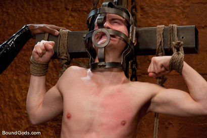 Photo number 3 from Please Sir, may I have more? shot for Bound Gods on Kink.com. Featuring Scott Alexander and CJ in hardcore BDSM & Fetish porn.