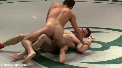 Photo number 6 from Spencer Reed & DJ vs Patrick Rouge & Dean Tucker<br />The Live Audience Match  shot for Naked Kombat on Kink.com. Featuring Patrick Rouge, Dean Tucker, DJ and Spencer Reed in hardcore BDSM & Fetish porn.