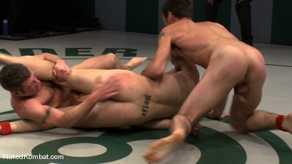 Photo number 7 from Spencer Reed & DJ vs Patrick Rouge & Dean Tucker<br />The Live Audience Match  shot for Naked Kombat on Kink.com. Featuring Patrick Rouge, Dean Tucker, DJ and Spencer Reed in hardcore BDSM & Fetish porn.