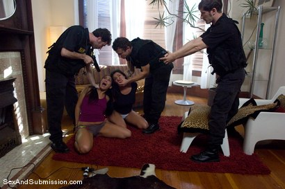 Photo number 1 from The Big Bust shot for Sex And Submission on Kink.com. Featuring James Deen, Miss Jade Indica, John Henry, Mr. Pete and Charley Chase in hardcore BDSM & Fetish porn.