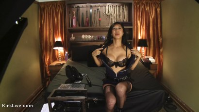 Photo number 1 from Tia Ling Live and Horny!!!!!!! shot for Kink Live on Kink.com. Featuring Tia Ling in hardcore BDSM & Fetish porn.