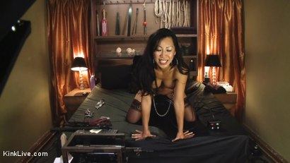 Photo number 11 from Tia Ling Live and Horny!!!!!!! shot for Kink Live on Kink.com. Featuring Tia Ling in hardcore BDSM & Fetish porn.