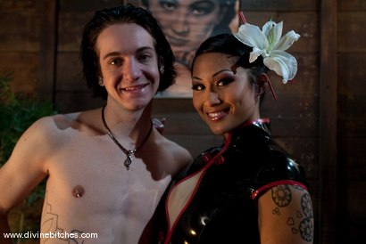 "Photo number 1 from Training of a Houseboy: Episode 3 ""The Cock Puppet"" shot for Divine Bitches on Kink.com. Featuring DragonLily and Kade in hardcore BDSM & Fetish porn."