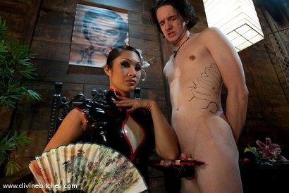 "Photo number 2 from Training of a Houseboy: Episode 3 ""The Cock Puppet"" shot for Divine Bitches on Kink.com. Featuring DragonLily and Kade in hardcore BDSM & Fetish porn."