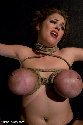 Photo number 6 from Katie Kox gets her BIG TITS Bound, Clamped, and Shocked shot for Wired Pussy on Kink.com. Featuring Isis Love and Katie Kox in hardcore BDSM & Fetish porn.