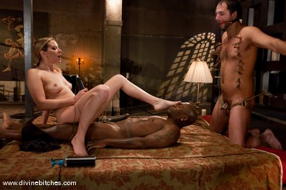 Photo number 12 from Merry Christmas Slaveboys! Bonus: Live Divine Bitches Launch Show! shot for Divine Bitches on Kink.com. Featuring Jack Hammer, Maitresse Madeline Marlowe  and David Chase in hardcore BDSM & Fetish porn.