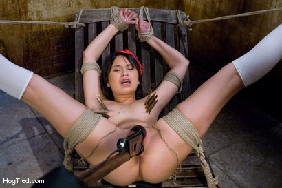 Photo number 5 from Sasha has soooo many firsts! Anal & squirt! shot for Hogtied on Kink.com. Featuring Sasha Yung in hardcore BDSM & Fetish porn.