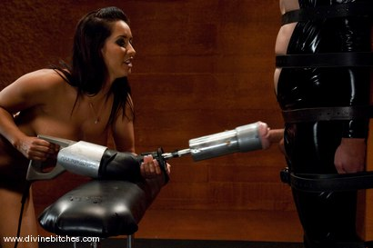 "Photo number 10 from The Adjustment of Wolf Hudson: Episode 2 ""EXTREME tease and denial"" shot for Divine Bitches on Kink.com. Featuring Isis Love and Wolf Hudson in hardcore BDSM & Fetish porn."