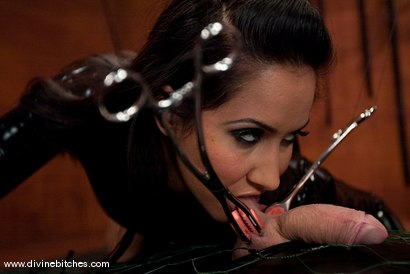 "Photo number 2 from The Adjustment of Wolf Hudson: Episode 2 ""EXTREME tease and denial"" shot for Divine Bitches on Kink.com. Featuring Isis Love and Wolf Hudson in hardcore BDSM & Fetish porn."