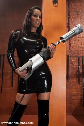 "Photo number 7 from The Adjustment of Wolf Hudson: Episode 2 ""EXTREME tease and denial"" shot for Divine Bitches on Kink.com. Featuring Isis Love and Wolf Hudson in hardcore BDSM & Fetish porn."