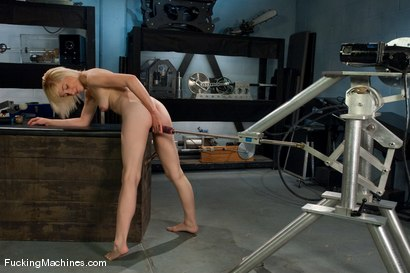 Photo number 4 from AMATEUR GIRL FRIDAYS SPECIAL EDITION <BR> CONTEST FOR PORN VIRGINS shot for Fucking Machines on Kink.com. Featuring Amber Ann in hardcore BDSM & Fetish porn.