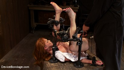 Photo number 5 from Marie McCray<br> Our little red head, with legs up and helpless to anything. shot for Device Bondage on Kink.com. Featuring Marie McCray in hardcore BDSM & Fetish porn.