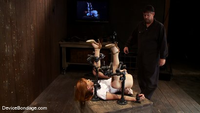 Photo number 1 from Marie McCray<br> Our little red head, with legs up and helpless to anything. shot for Device Bondage on Kink.com. Featuring Marie McCray in hardcore BDSM & Fetish porn.