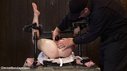 Photo number 12 from Marie McCray<br> Our little red head, with legs up and helpless to anything. shot for Device Bondage on Kink.com. Featuring Marie McCray in hardcore BDSM & Fetish porn.