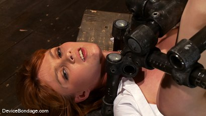 Photo number 7 from Marie McCray<br> Our little red head, with legs up and helpless to anything. shot for Device Bondage on Kink.com. Featuring Marie McCray in hardcore BDSM & Fetish porn.