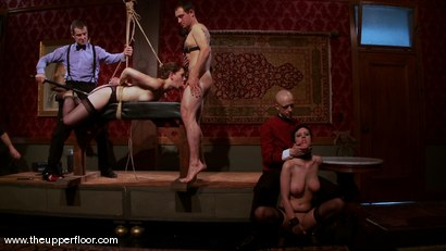 Photo number 5 from The First Cocktail Party shot for The Upper Floor on Kink.com. Featuring Cherry Torn, Savannah West, Bella Rossi, Sarah Shevon, Mister Torn, Catrina Cummings, Maestro and Curt Wooster in hardcore BDSM & Fetish porn.