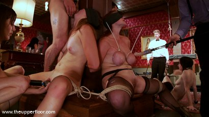 Photo number 7 from The First Cocktail Party shot for The Upper Floor on Kink.com. Featuring Cherry Torn, Savannah West, Bella Rossi, Sarah Shevon, Mister Torn, Catrina Cummings, Maestro and Curt Wooster in hardcore BDSM & Fetish porn.