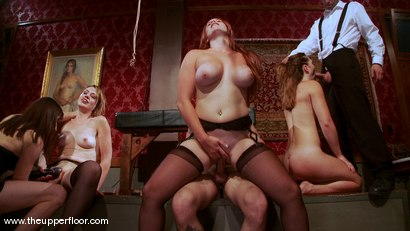 Photo number 13 from The First Cocktail Party shot for The Upper Floor on Kink.com. Featuring Cherry Torn, Savannah West, Bella Rossi, Sarah Shevon, Mister Torn, Catrina Cummings, Maestro and Curt Wooster in hardcore BDSM & Fetish porn.