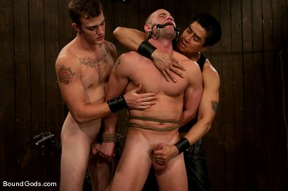 Photo number 7 from Dom Training Christian Wilde <br /> Live Shoot shot for Bound Gods on Kink.com. Featuring Van Darkholme, Patrick Rouge and Christian Wilde in hardcore BDSM & Fetish porn.