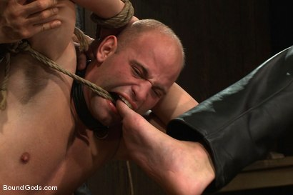 Photo number 8 from Dom Training Christian Wilde <br /> Live Shoot shot for Bound Gods on Kink.com. Featuring Van Darkholme, Patrick Rouge and Christian Wilde in hardcore BDSM & Fetish porn.