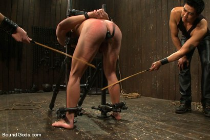 Photo number 10 from Dom Training Christian Wilde <br /> Live Shoot shot for Bound Gods on Kink.com. Featuring Van Darkholme, Patrick Rouge and Christian Wilde in hardcore BDSM & Fetish porn.