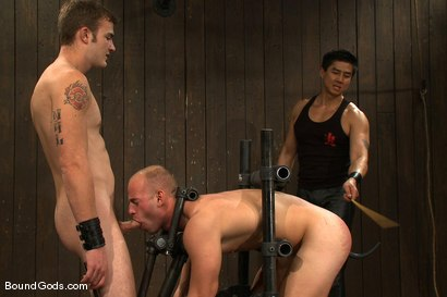 Photo number 11 from Dom Training Christian Wilde <br /> Live Shoot shot for Bound Gods on Kink.com. Featuring Van Darkholme, Patrick Rouge and Christian Wilde in hardcore BDSM & Fetish porn.