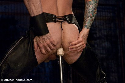 Photo number 9 from Leather Daddy Nick Moretti shot for Butt Machine Boys on Kink.com. Featuring Nick Moretti in hardcore BDSM & Fetish porn.