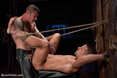 Photo number 13 from The Reluctant Slave shot for Bound Gods on Kink.com. Featuring Shane Frost and Nick Moretti in hardcore BDSM & Fetish porn.