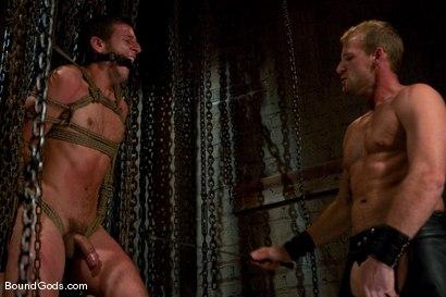 Photo number 2 from Derrek Gets Used. shot for Bound Gods on Kink.com. Featuring Scott Tanner and Derrek Diamond in hardcore BDSM & Fetish porn.