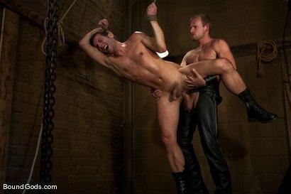 Photo number 6 from Derrek Gets Used. shot for Bound Gods on Kink.com. Featuring Scott Tanner and Derrek Diamond in hardcore BDSM & Fetish porn.