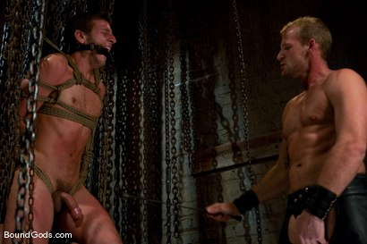 Photo number 2 from Derrek Gets Used. shot for Bound Gods on Kink.com. Featuring Scott Tanner and Derrek Diamond in hardcore BDSM & Fetish porn.
