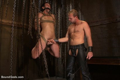 Photo number 3 from Derrek Gets Used. shot for Bound Gods on Kink.com. Featuring Scott Tanner and Derrek Diamond in hardcore BDSM & Fetish porn.