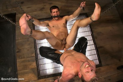 Photo number 14 from Derrek Gets Used. shot for Bound Gods on Kink.com. Featuring Scott Tanner and Derrek Diamond in hardcore BDSM & Fetish porn.