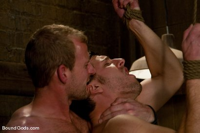 Photo number 4 from Derrek Gets Used. shot for Bound Gods on Kink.com. Featuring Scott Tanner and Derrek Diamond in hardcore BDSM & Fetish porn.