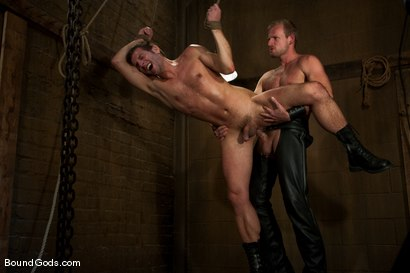 Photo number 6 from Derrek Gets Used. shot for Bound Gods on Kink.com. Featuring Scott Tanner and Derrek Diamond in hardcore BDSM & Fetish porn.