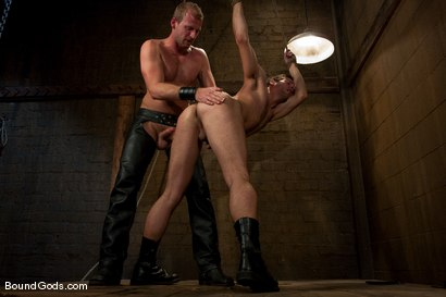 Photo number 13 from Derrek Gets Used. shot for Bound Gods on Kink.com. Featuring Scott Tanner and Derrek Diamond in hardcore BDSM & Fetish porn.