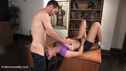 Photo number 1 from Blowjob & Deepthroat 101 with Sexy Bobbi Starr shot for Kink University on Kink.com. Featuring Bobbi Starr and Maestro in hardcore BDSM & Fetish porn.