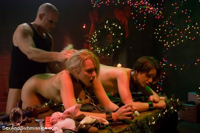 Photo number 10 from Evil Santa shot for Sex And Submission on Kink.com. Featuring Mark Davis, Katie Summers and Sarah Shevon in hardcore BDSM & Fetish porn.