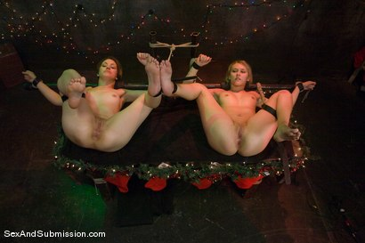 Photo number 12 from Evil Santa shot for Sex And Submission on Kink.com. Featuring Mark Davis, Katie Summers and Sarah Shevon in hardcore BDSM & Fetish porn.
