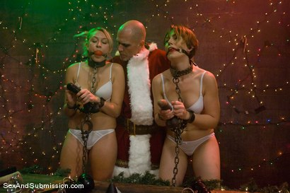 Photo number 1 from Evil Santa shot for Sex And Submission on Kink.com. Featuring Mark Davis, Katie Summers and Sarah Shevon in hardcore BDSM & Fetish porn.