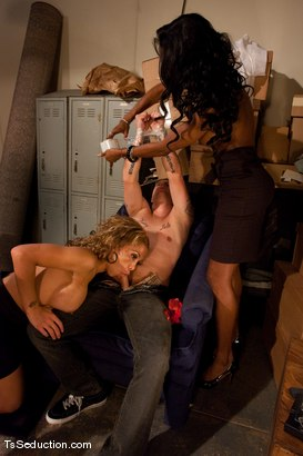 Photo number 4 from Jessica Host, Natassia Dream <br> Holiday Shopping shot for TS Seduction on Kink.com. Featuring Jessica Host, Triston Hall and Natassia Dreams in hardcore BDSM & Fetish porn.