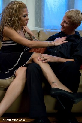 Photo number 2 from Jessica Host, Prince <br> Blind Date shot for TS Seduction on Kink.com. Featuring Jessica Host and Prince in hardcore BDSM & Fetish porn.